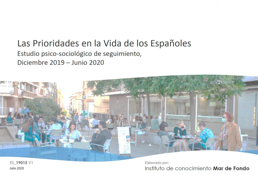 Estudio prioridades en la vida de los españoles
